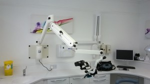 Wall mount microscope installation- Wash Common Dental Practice, Newbury